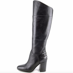 Vince Camuto Sidney Black Leather Boots